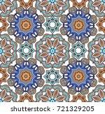 floral ethnic tiled ornament... | Shutterstock .eps vector #721329205