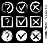 tick  cross and question test...   Shutterstock .eps vector #721329511