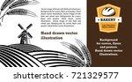 vector image of bread  mill ...   Shutterstock .eps vector #721329577