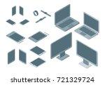 technology devices set... | Shutterstock .eps vector #721329724
