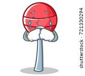 crying sweet lollipop character ... | Shutterstock .eps vector #721330294