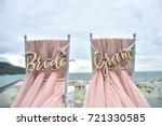 wedding setup | Shutterstock . vector #721330585