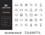 30 cinema line icons | Shutterstock .eps vector #721330771