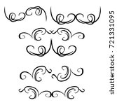 decorative monograms and... | Shutterstock .eps vector #721331095