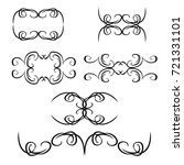 decorative monograms and... | Shutterstock .eps vector #721331101