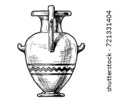 hand drawn sketch of ancient... | Shutterstock . vector #721331404