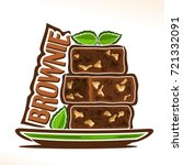 vector logo for brownie... | Shutterstock .eps vector #721332091