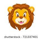 cute lion face emoticon emoji...   Shutterstock .eps vector #721337401