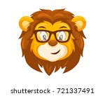 cute lion face emoticon emoji... | Shutterstock .eps vector #721337491