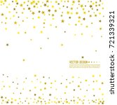 falling gold stars. abstract... | Shutterstock .eps vector #721339321