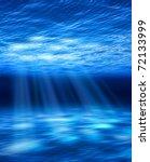 Light Beams From Ocean Surface...