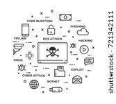 internet cyber attacks concept  ...   Shutterstock .eps vector #721342111