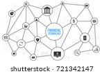 fin tech  financial technology  ... | Shutterstock .eps vector #721342147