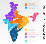 india regions business colorful ... | Shutterstock .eps vector #721346464
