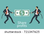 two businessman conflict share... | Shutterstock .eps vector #721347625