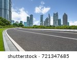 urban traffic road with... | Shutterstock . vector #721347685