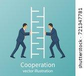 teamwork concept business... | Shutterstock .eps vector #721347781
