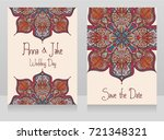two banners for gypsy style... | Shutterstock .eps vector #721348321