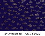 seamless pattern of golden... | Shutterstock .eps vector #721351429