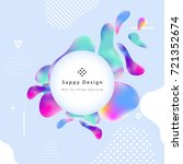 fluid color cover design with... | Shutterstock .eps vector #721352674