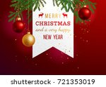 merry christmas and a very... | Shutterstock .eps vector #721353019