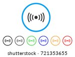 wi fi point rounded icon. style ... | Shutterstock .eps vector #721353655