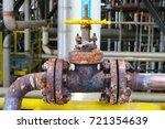 a heavily corroded manual valve ...