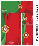 portugal flag abstract colors... | Shutterstock .eps vector #721356115
