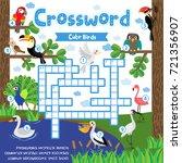 crosswords puzzle game of cute...   Shutterstock .eps vector #721356907