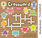 crosswords puzzle game of... | Shutterstock .eps vector #721356919