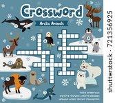 crosswords puzzle game of... | Shutterstock .eps vector #721356925