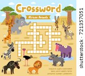 crosswords puzzle game of... | Shutterstock .eps vector #721357051