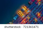 container cargo ship and cargo... | Shutterstock . vector #721361671