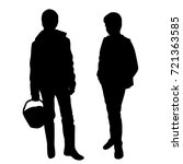 vector silhouettes two... | Shutterstock .eps vector #721363585