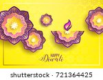 diwali holiday shiny background ... | Shutterstock .eps vector #721364425
