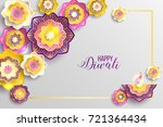 diwali holiday shiny background ... | Shutterstock .eps vector #721364434