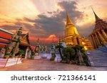 grand palace and wat phra keaw... | Shutterstock . vector #721366141
