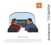flight training. cabin of the... | Shutterstock .eps vector #721366504
