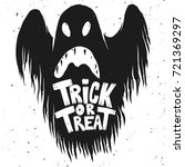 trick or treat. scary ghost... | Shutterstock .eps vector #721369297