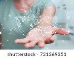 businesswoman on blurred... | Shutterstock . vector #721369351