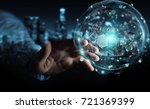 businessman on blurred... | Shutterstock . vector #721369399