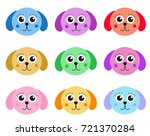 collection of cute colorful... | Shutterstock .eps vector #721370284