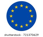vector flag of european union | Shutterstock .eps vector #721370629