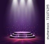 round podium on bright... | Shutterstock .eps vector #721371295