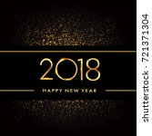 happy new year 2018 with... | Shutterstock .eps vector #721371304