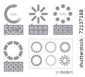 web 2.0 vector progress loader... | Shutterstock .eps vector #72137188