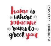dog adoption hand written... | Shutterstock .eps vector #721372624