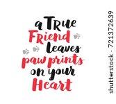 dog adoption hand written... | Shutterstock .eps vector #721372639