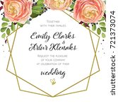 wedding invitation  floral...   Shutterstock .eps vector #721373074