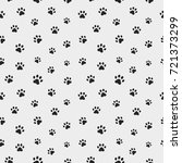 cat paw track. seamless animal...   Shutterstock .eps vector #721373299